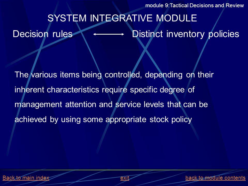 SYSTEM INTEGRATIVE MODULE