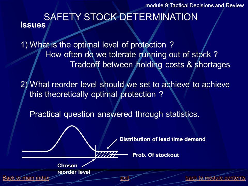 SAFETY STOCK DETERMINATION