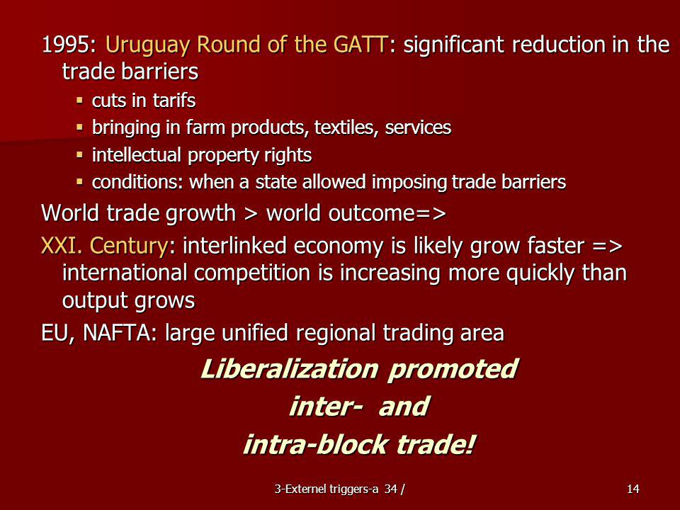 Liberalization promoted