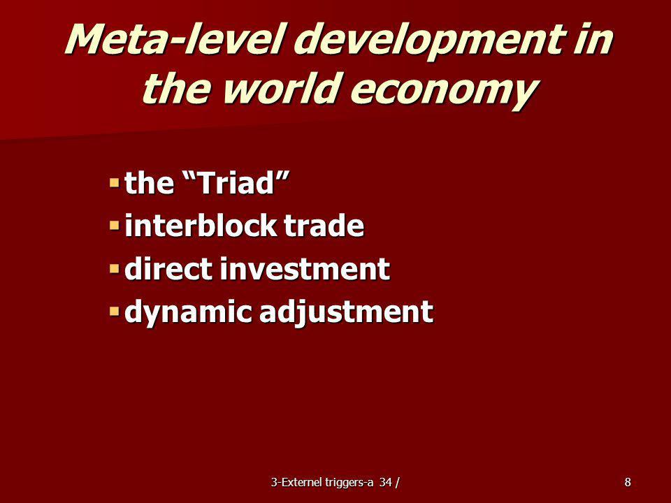 Meta-level development in the world economy