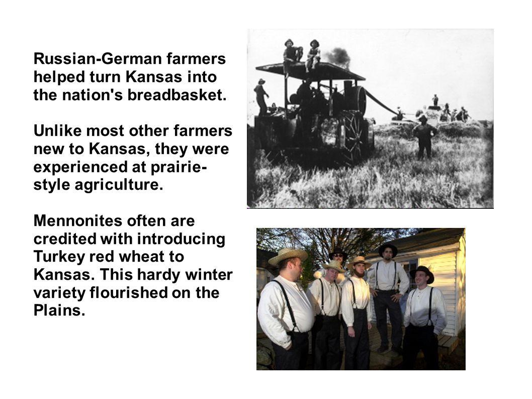 Russian-German farmers helped turn Kansas into the nation s breadbasket.