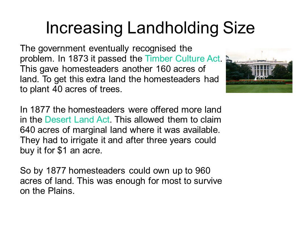 Increasing Landholding Size