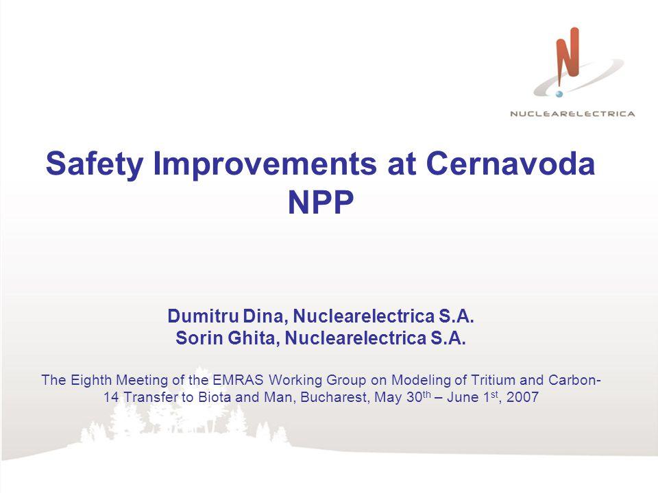 Safety Improvements at Cernavoda NPP Dumitru Dina, Nuclearelectrica S