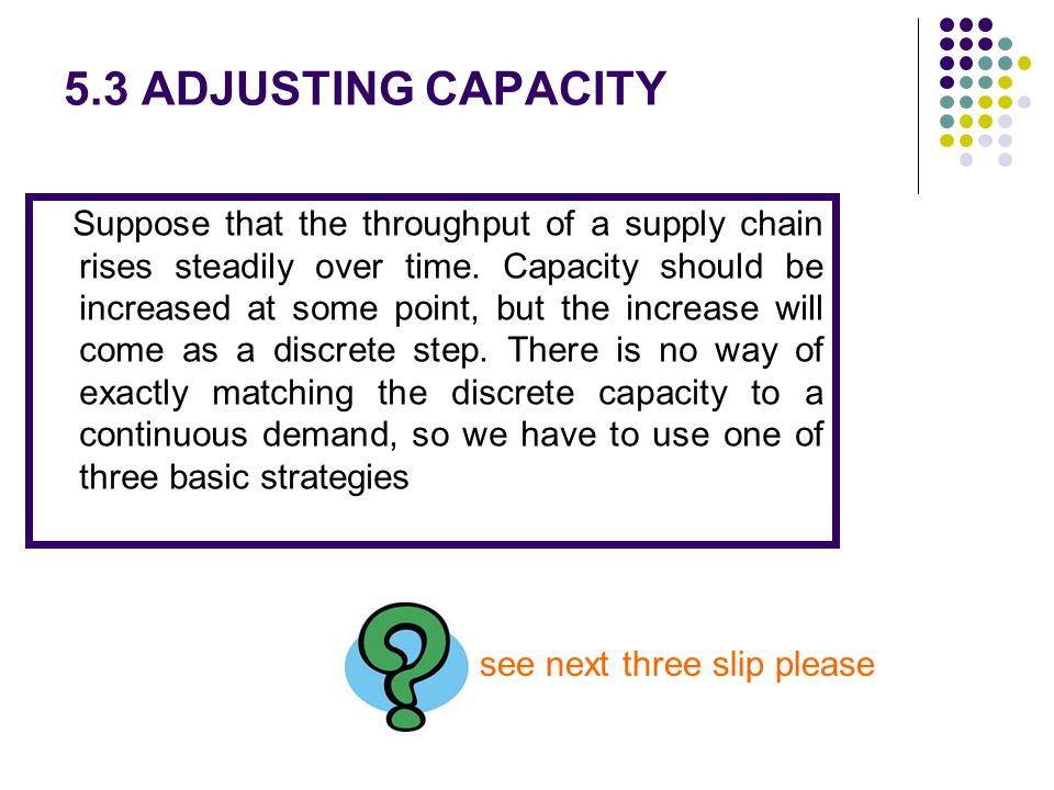 5.3 ADJUSTING CAPACITY see next three slip please
