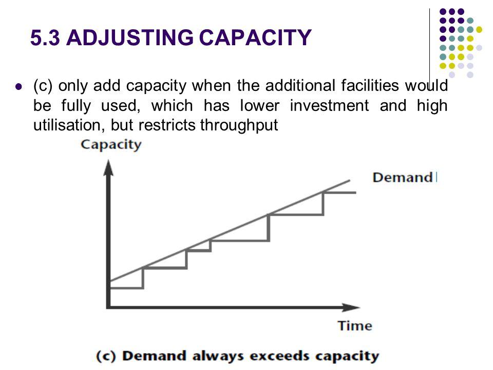 5.3 ADJUSTING CAPACITY
