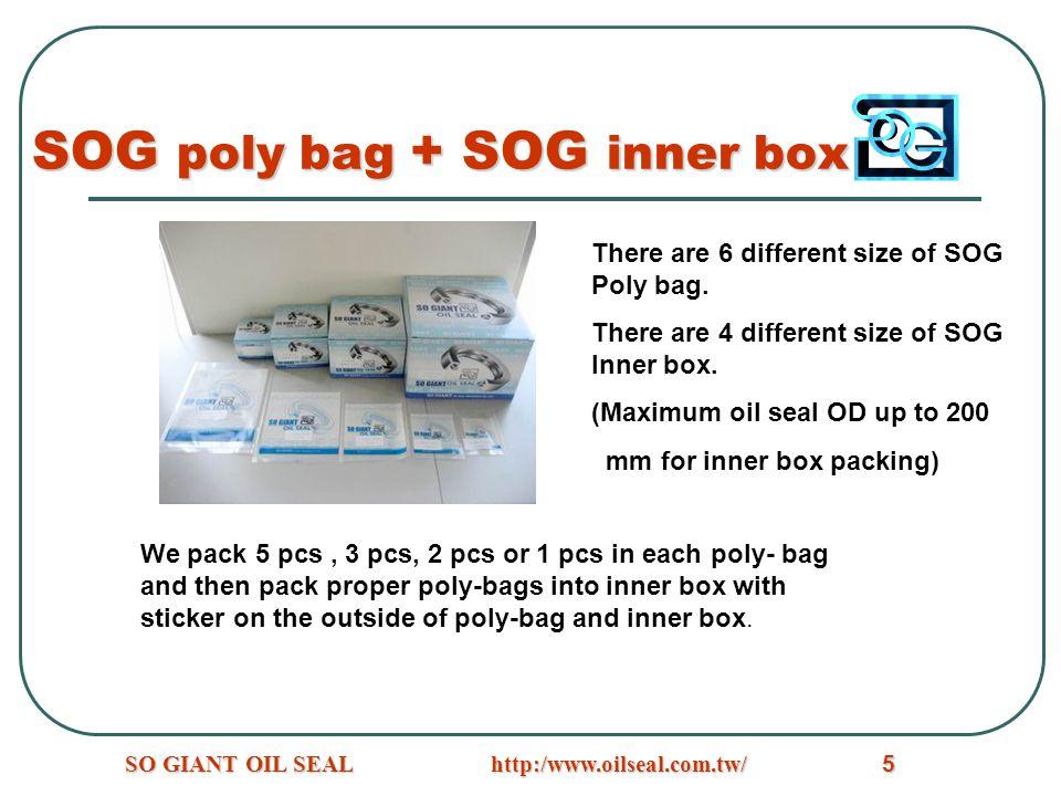 SOG poly bag + SOG inner box