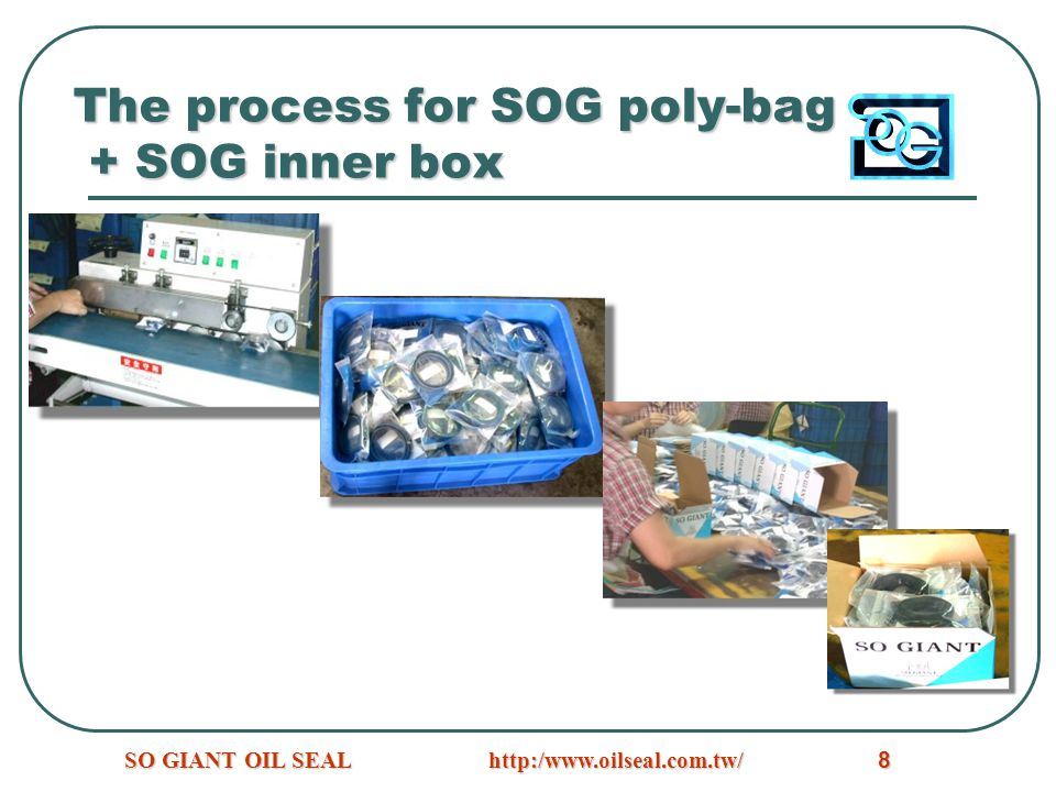 The process for SOG poly-bag + SOG inner box
