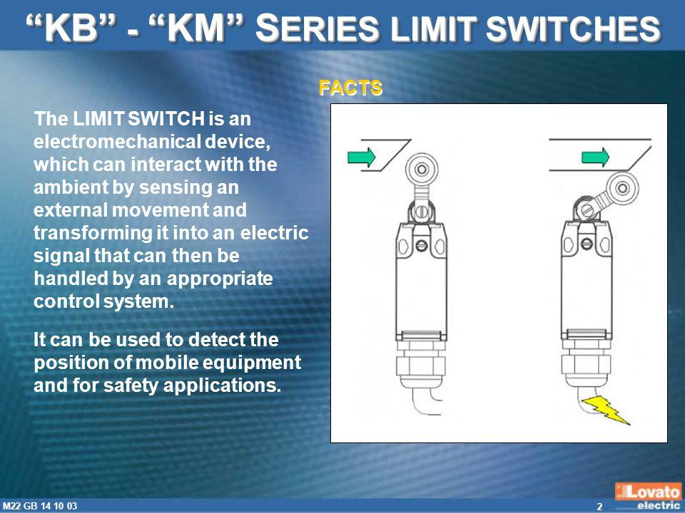 KB - KM SERIES LIMIT SWITCHES
