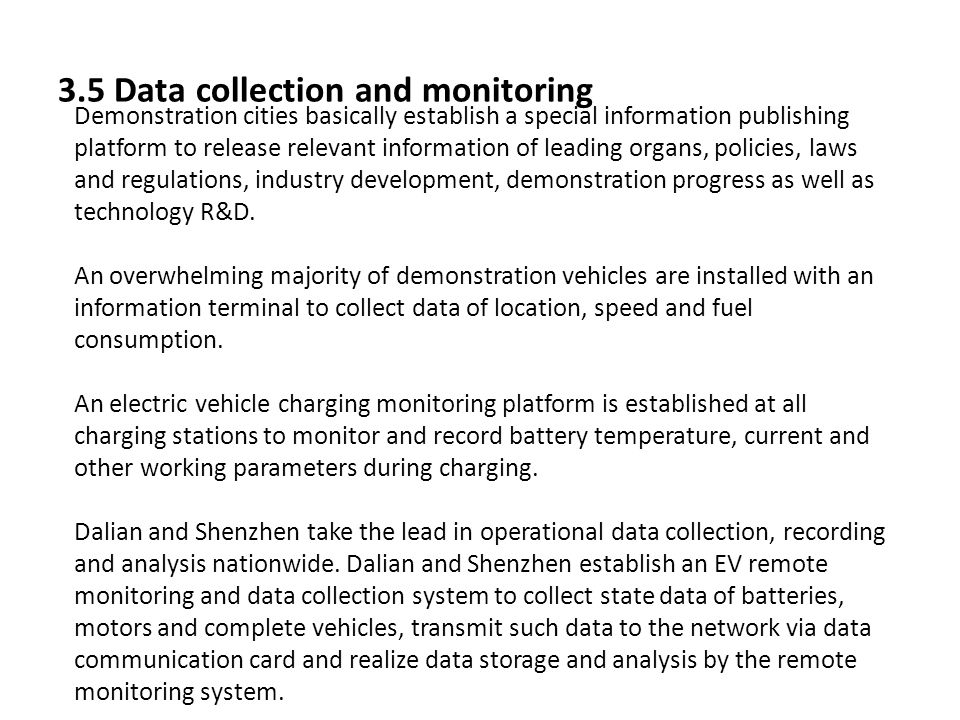 3.5 Data collection and monitoring