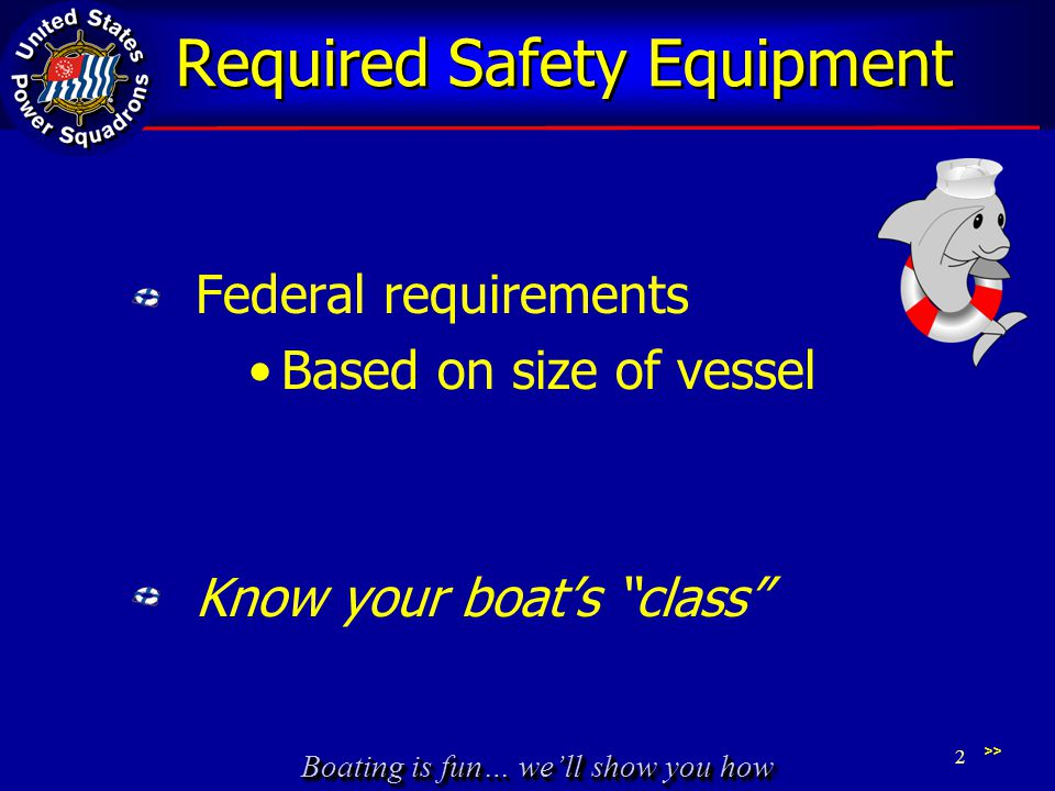 Required Safety Equipment