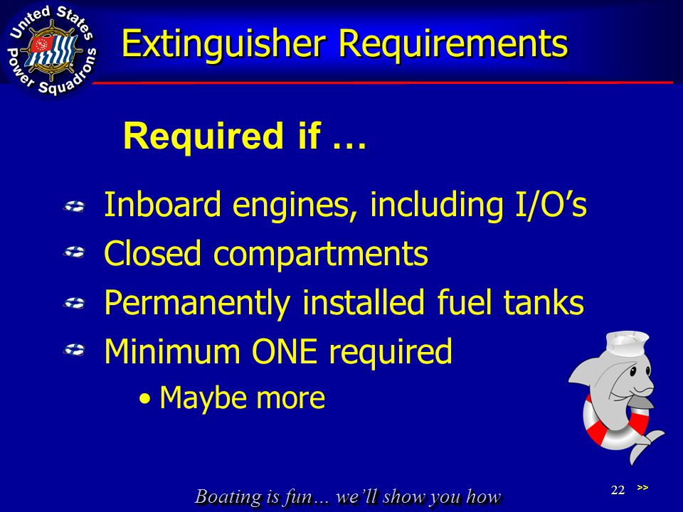 Extinguisher Requirements