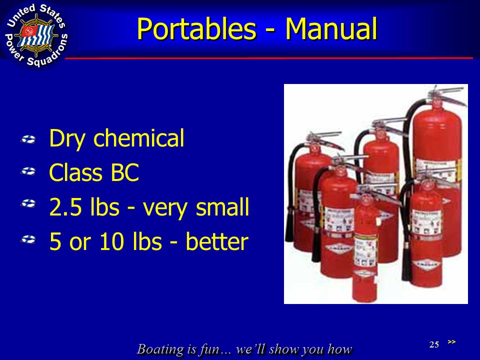 Portables - Manual Dry chemical Class BC 2.5 lbs - very small