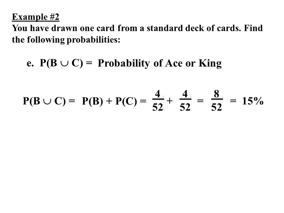Probability of Ace or King