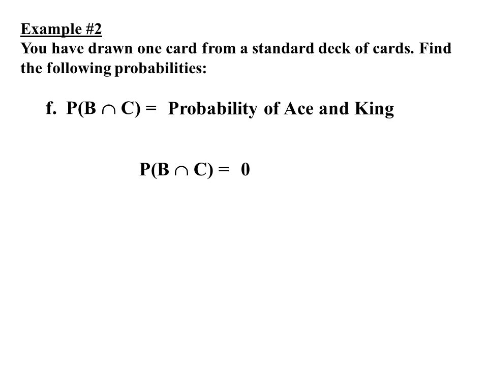 Probability of Ace and King