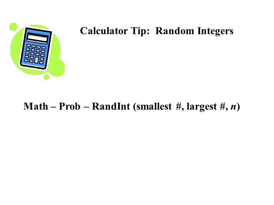 Calculator Tip: Random Integers