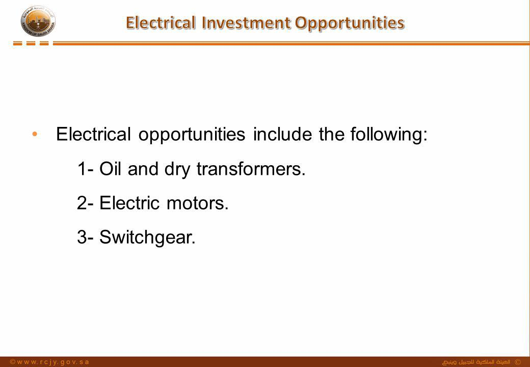 Electrical Investment Opportunities