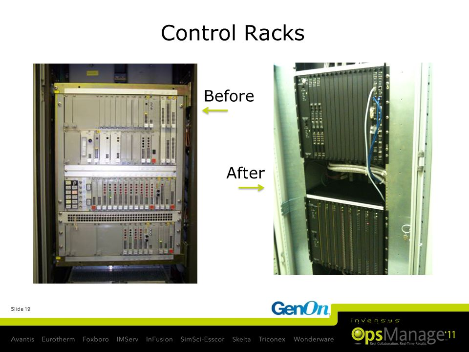 Control Racks Before After