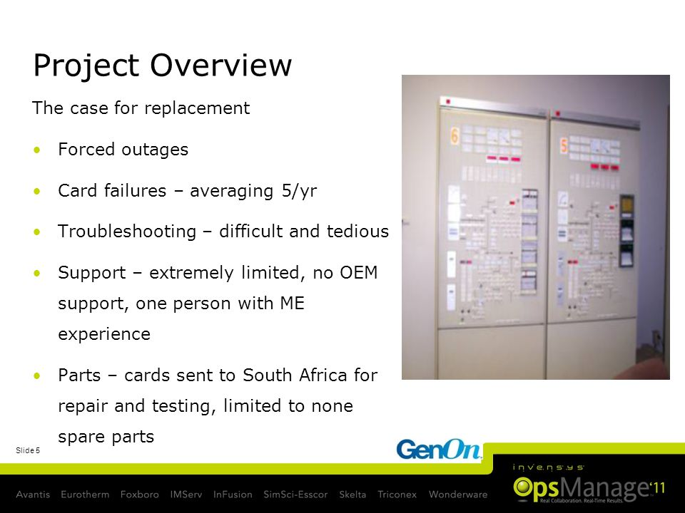 Project Overview The case for replacement Forced outages