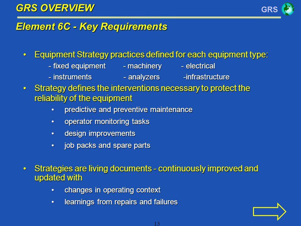 Element 6C - Key Requirements