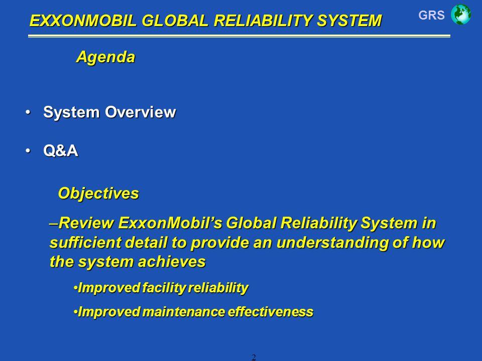 EXXONMOBIL GLOBAL RELIABILITY SYSTEM