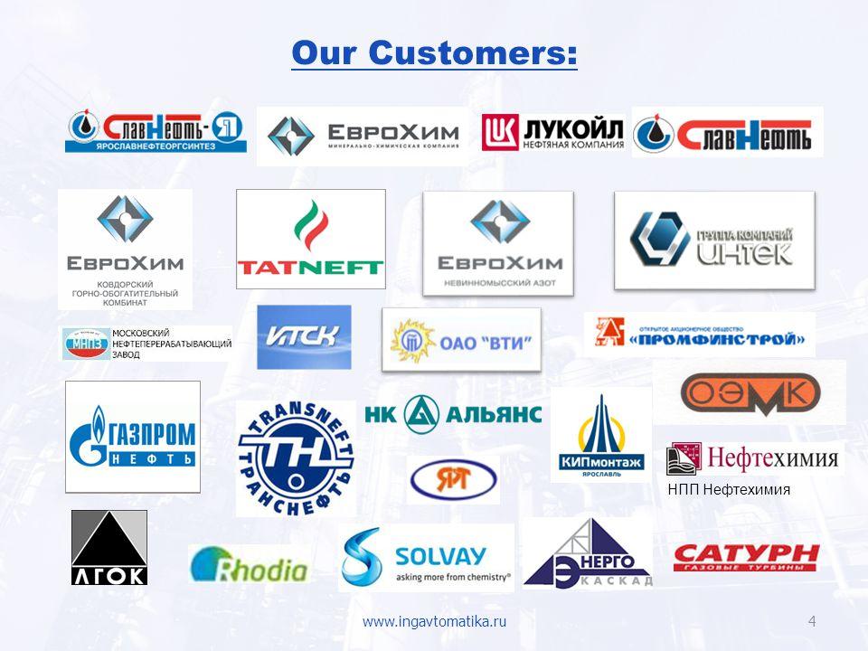 Our Customers: НПП Нефтехимия www.ingavtomatika.ru