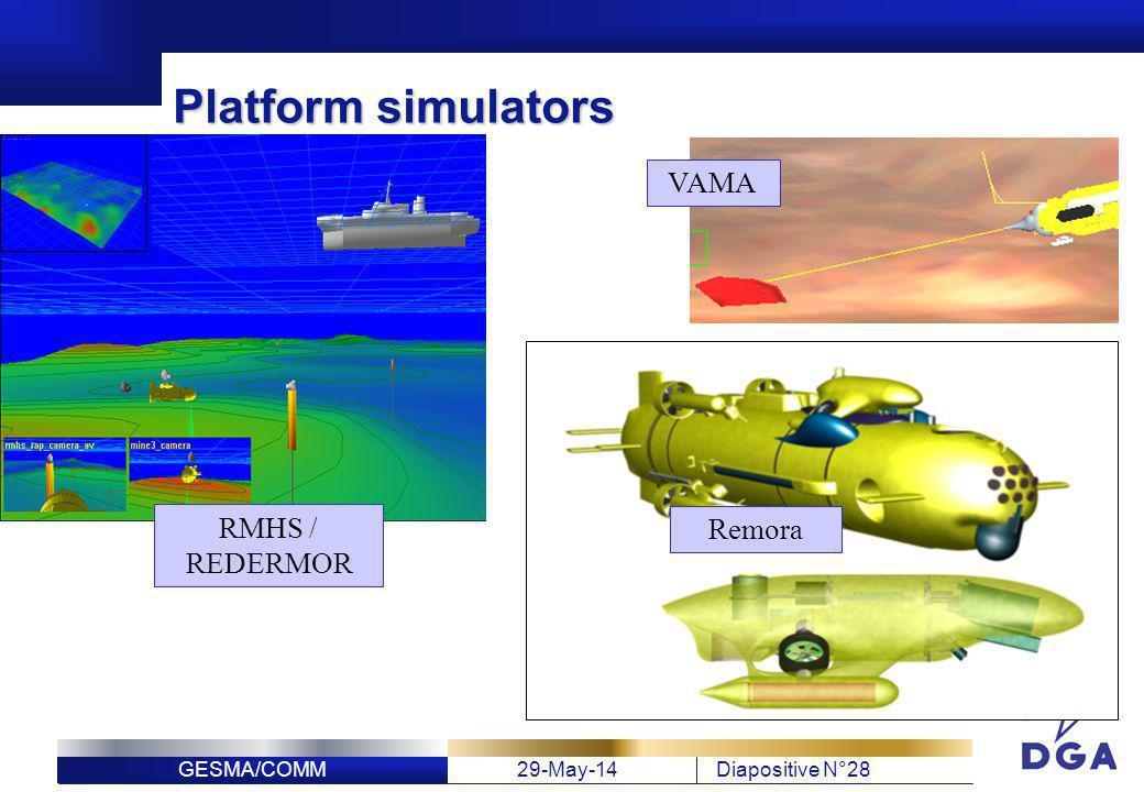 Platform simulators VAMA RMHS / REDERMOR Remora
