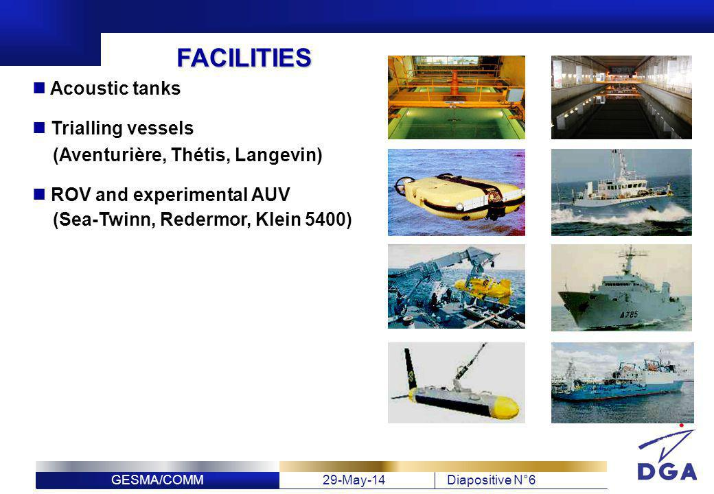 FACILITIES Acoustic tanks Trialling vessels