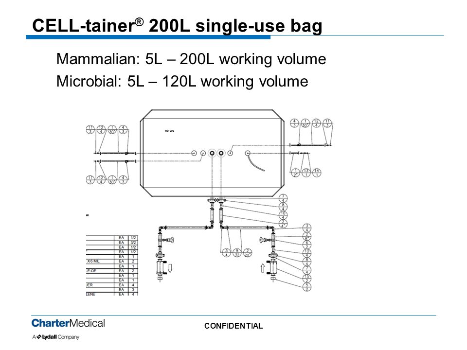 CELL-tainer® 200L single-use bag