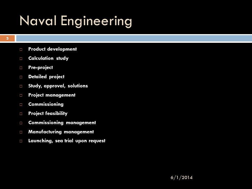 Naval Engineering 3/31/2017 Product development Calculation study