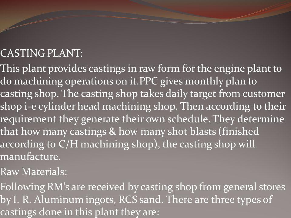 CASTING PLANT: