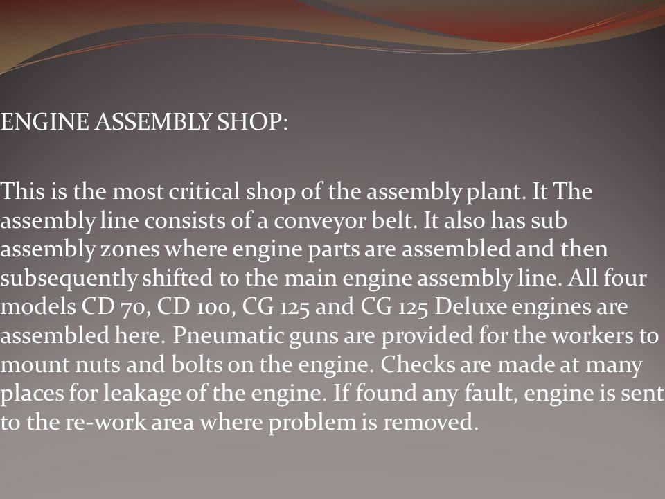 ENGINE ASSEMBLY SHOP: