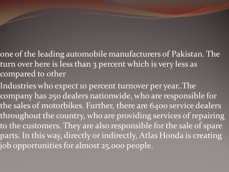 one of the leading automobile manufacturers of Pakistan
