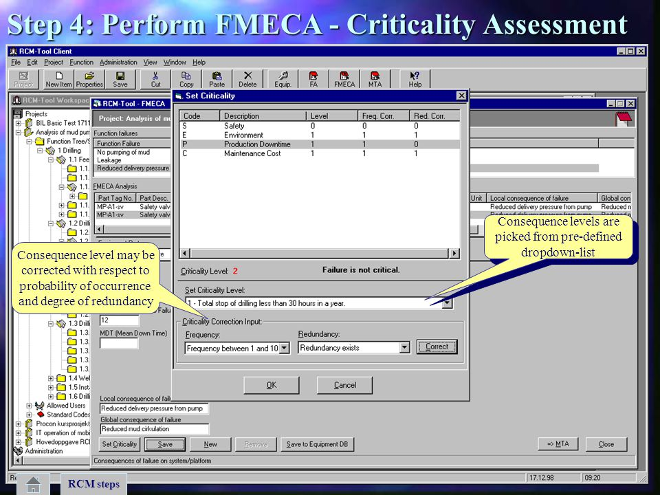 Step 4: Perform FMECA - Criticality Assessment
