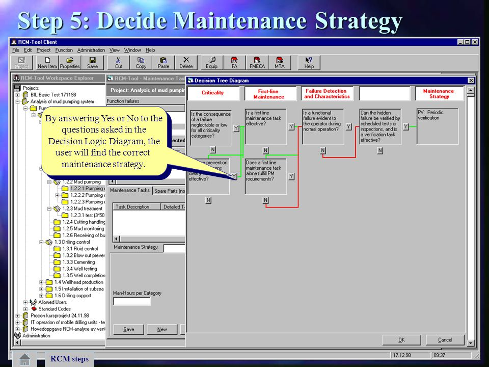 Step 5: Decide Maintenance Strategy
