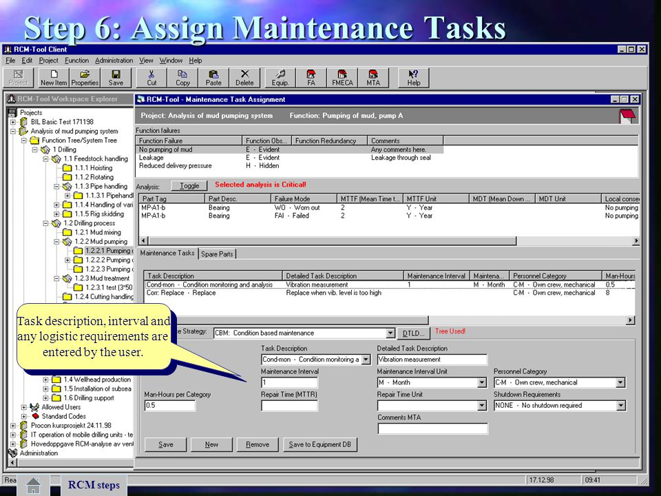 Step 6: Assign Maintenance Tasks