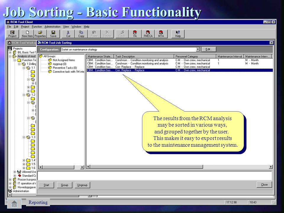 Job Sorting - Basic Functionality