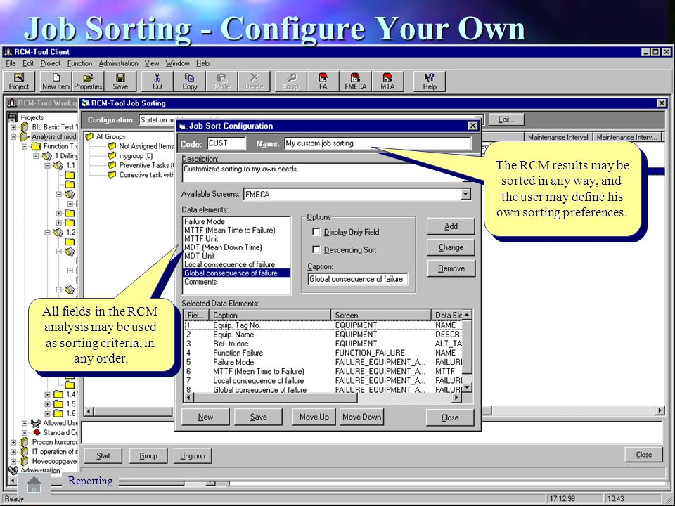Job Sorting - Configure Your Own