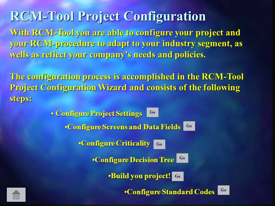 RCM-Tool Project Configuration