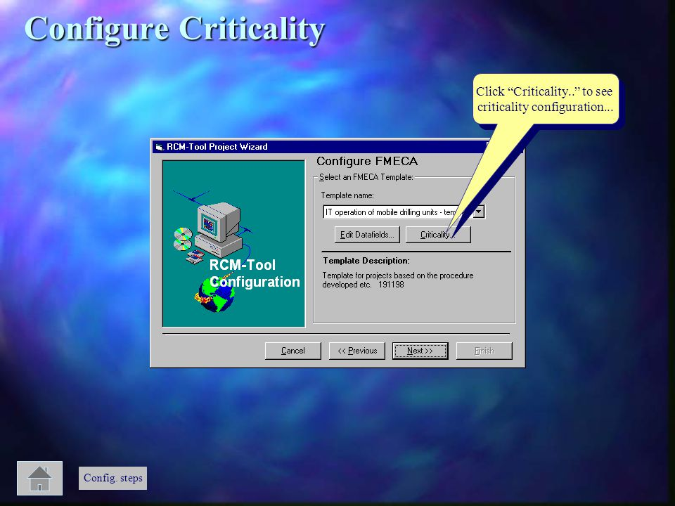 Configure Criticality