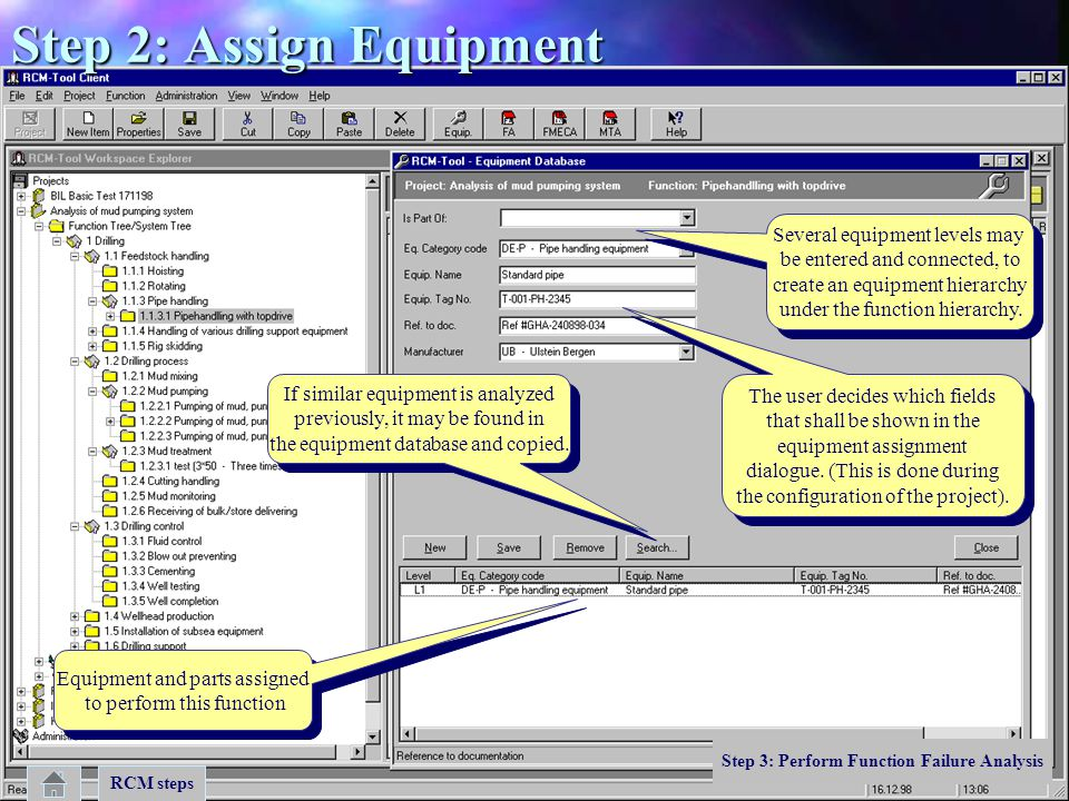 Step 2: Assign Equipment