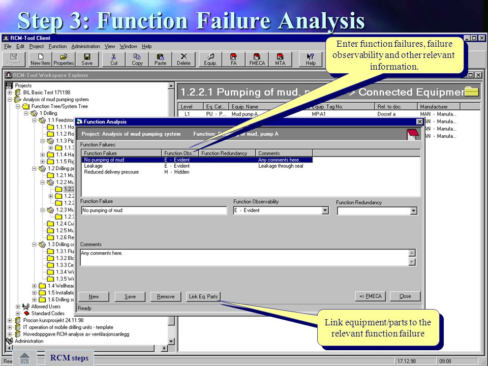 Step 3: Function Failure Analysis