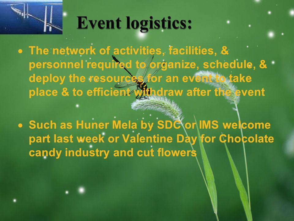 Event logistics: