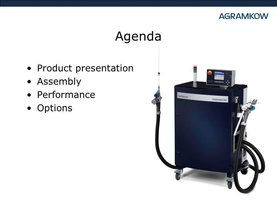 Agenda Product presentation Assembly Performance Options