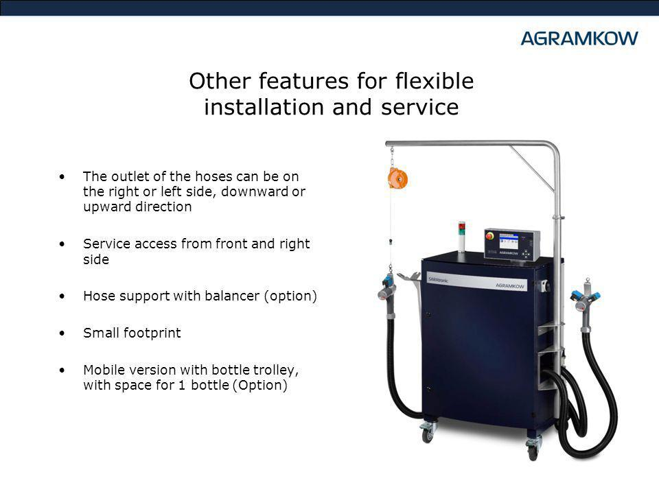 Other features for flexible installation and service