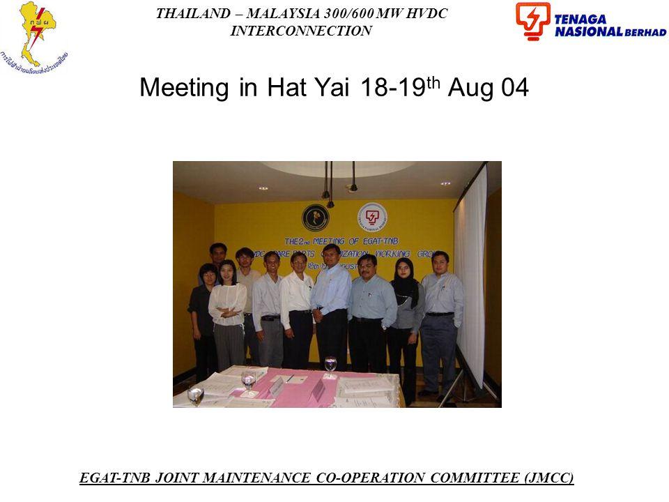 Meeting in Hat Yai 18-19th Aug 04