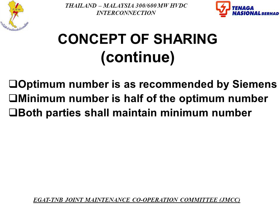 CONCEPT OF SHARING (continue)