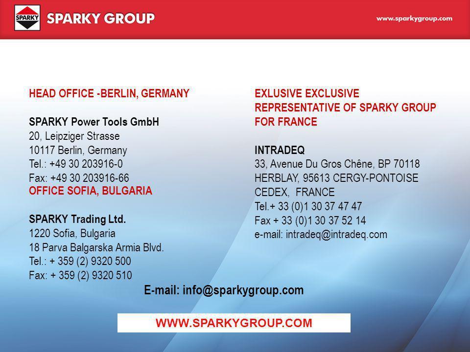 E-mail: info@sparkygroup.com
