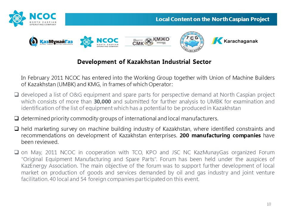 Development of Kazakhstan Industrial Sector