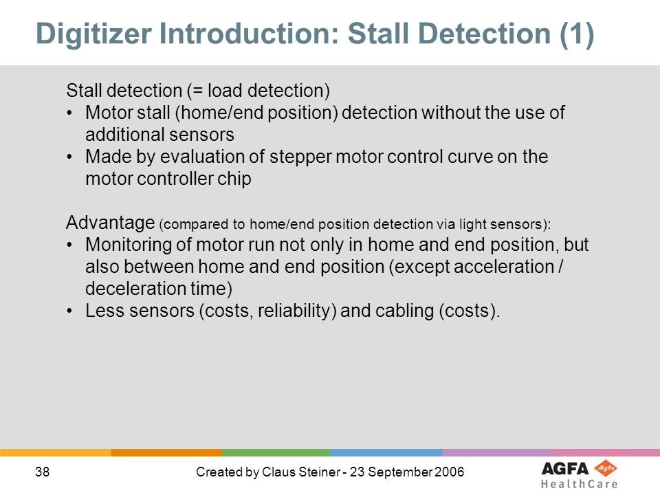 Digitizer Introduction: Stall Detection (1)
