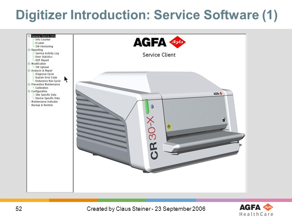 Digitizer Introduction: Service Software (1)